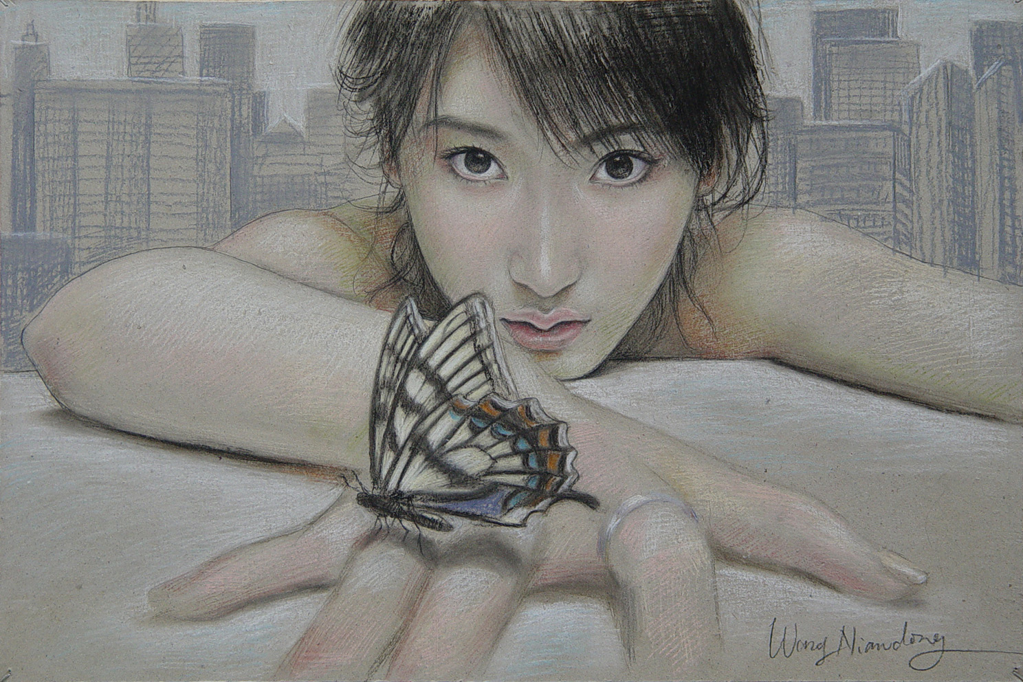 Butterfly Hand (sold)