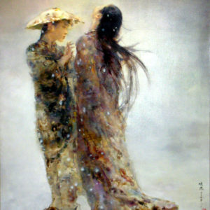 Two Women in Snow (sold)