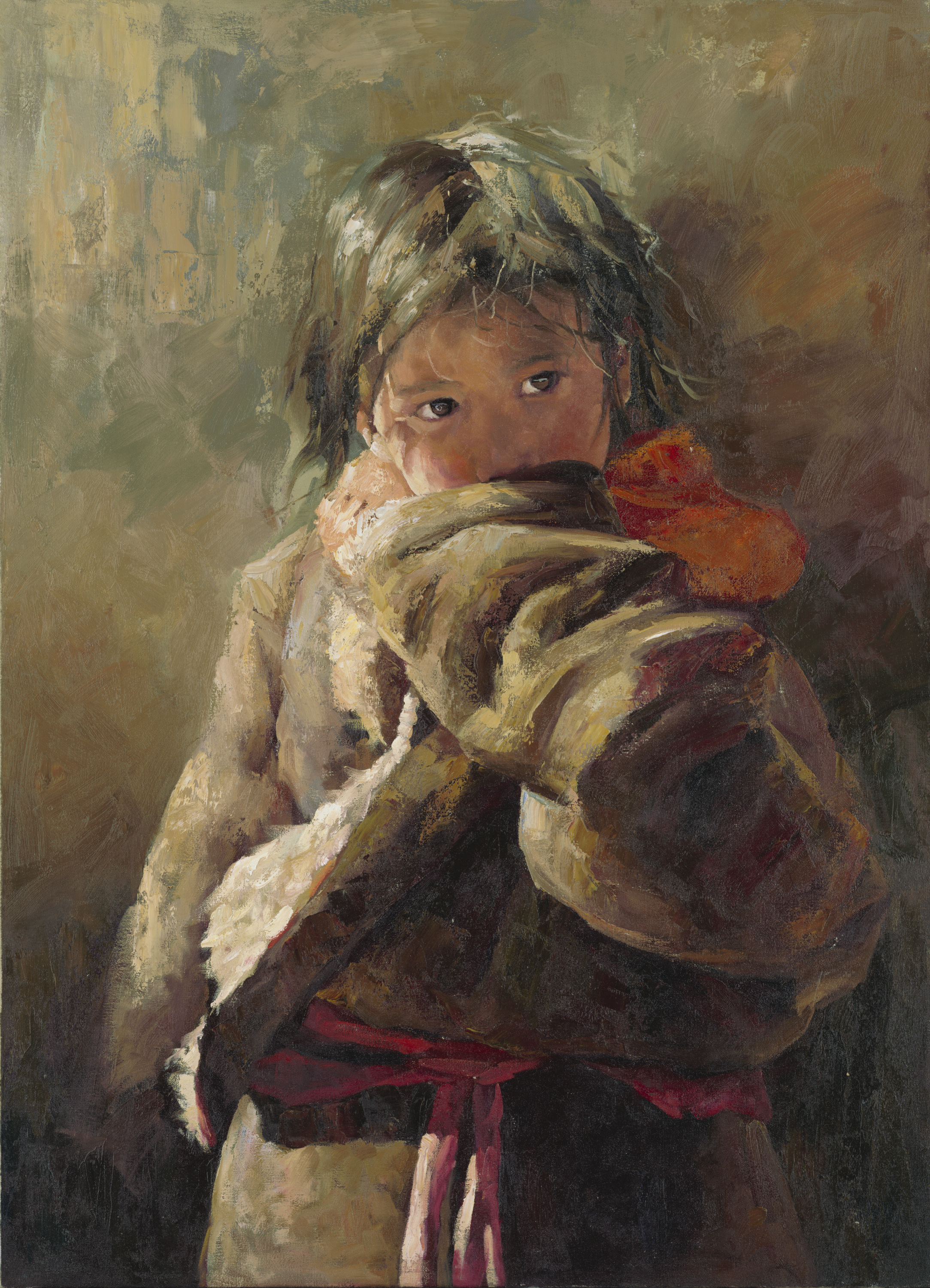 Girl in Red Scarf (sold)