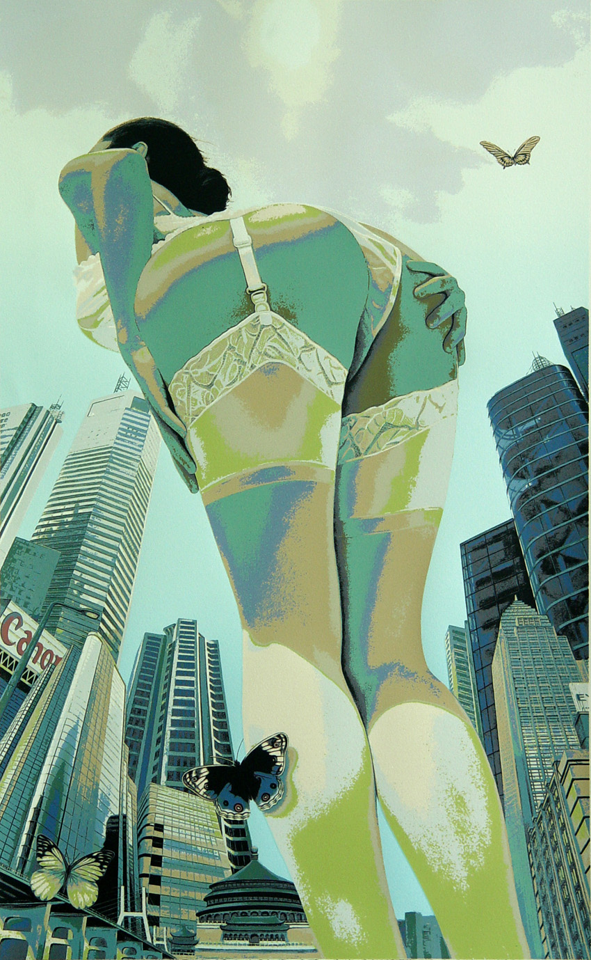 Urban Desire (green hue) silkscreen (sold out)